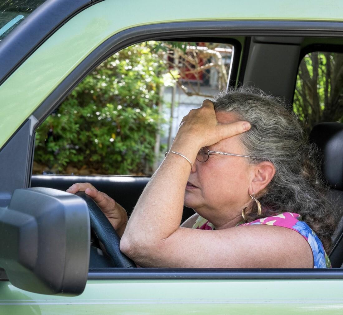 Frustrated Senior Driver