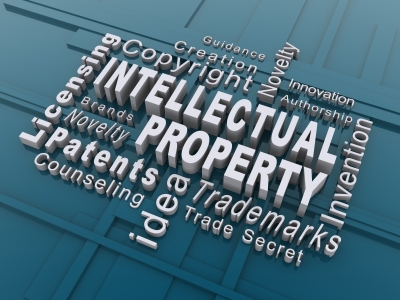 Intellectual Property words graphic