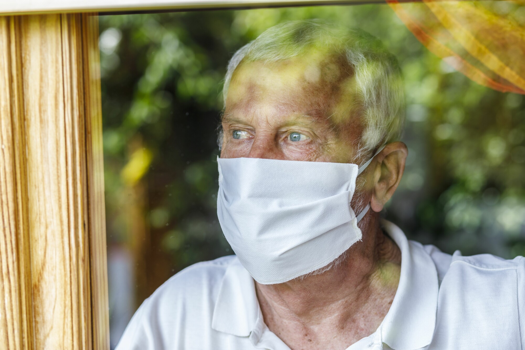 Isolated Elderly Man