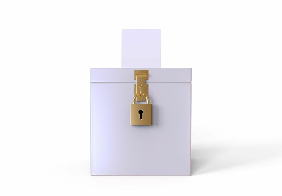 Locked Election Box
