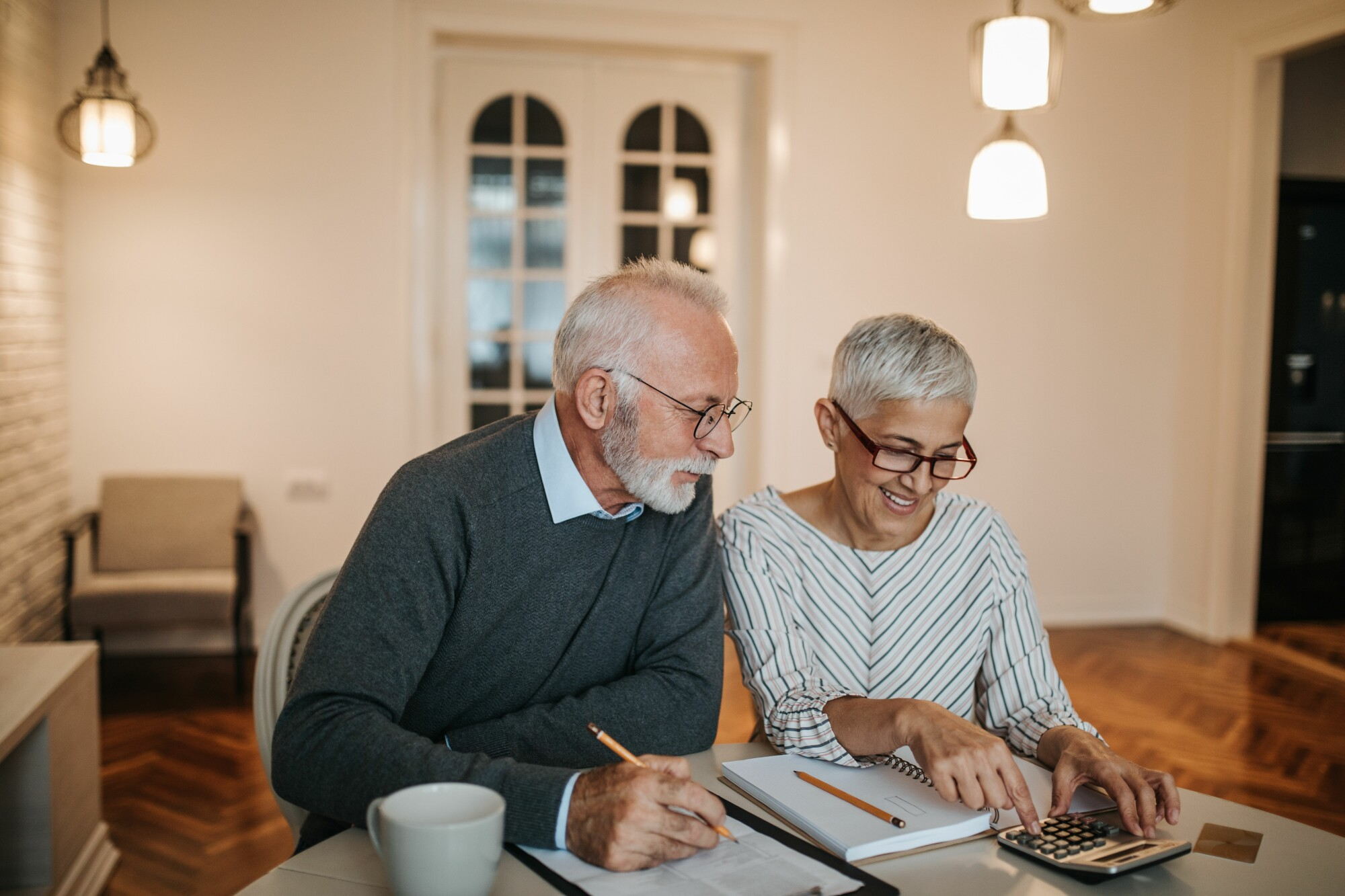 Older Couple Looking at Retirement Plan