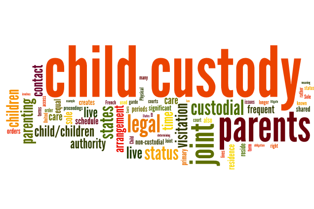 Divorce Custody Word Cloud